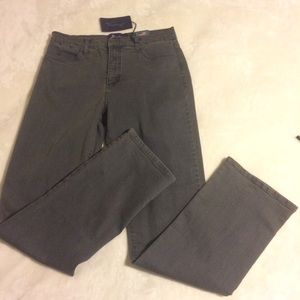 NYDJ Not Your Daughters Jeans Gray Straight /SZ 10